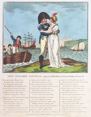 The Sailor's Journal. Sung by Mr Incledon at Covent Garden Theatre, &c by Robert Laurie & James Whittle - print