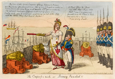 'The Empress's wish or Boney Puzzled!! by Isaac Cruikshank - print