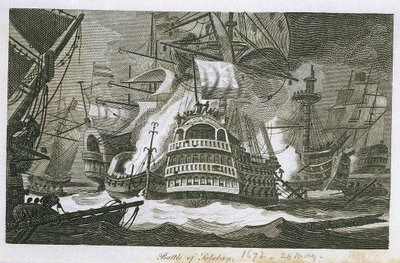 Battle of Solebay, 28 May 1672 by James Cundee - print