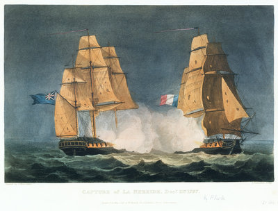 Capture of 'La Nereide', 21 December 1797 by Thomas Whitcombe - print
