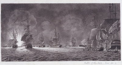 Battle of the Nile by unknown - print
