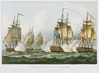 Capture of the Dorothea July 15th 1798 by Thomas Whitcombe - print