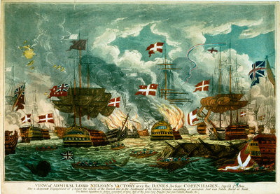 The Battle of Copenhagen, 2 April 1801 by William Elmes - print