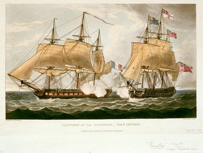 Capture of 'La Clorinde', 26 February 1814 by Thomas Whitcombe - print
