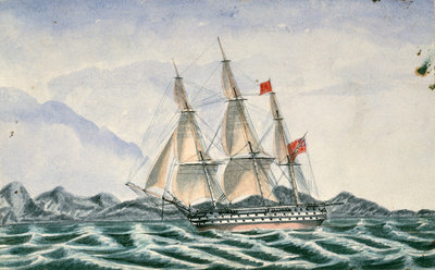 HMS 'Wellesly' by unknown - print