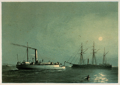 A print of HMS Enterprise & H.M.G.B Comet by Griffin & Co, 1872 by Griffin & Co - print
