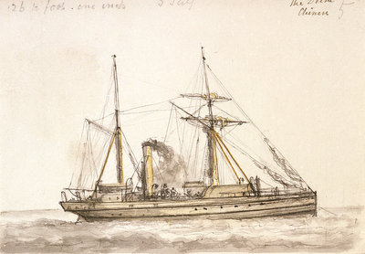 Delta' a Chinese gunboat built 1886 by unknown - print