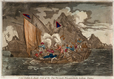 Lieut. Turner & boats crew of the ship 'Tea', made prisoners by the Ladrone Pirates by unknown - print