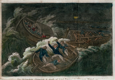 The 'Melancholy' shipwreck & death of Lord Royston by unknown - print