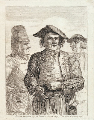 Life on board a Scotch ship. The cook, captain & mate by Paul Sandby - print