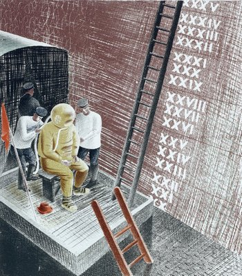 The Submarine Series: The diver by Eric Ravilious - print