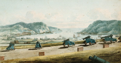 View of St. John's, Newfoundland from Fort Townsend by George Bulteel Fisher - print
