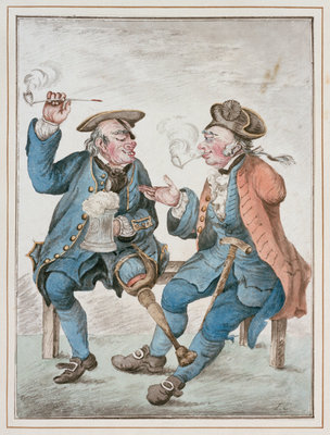 Two Old Seamen [Battles by Sea and Land] by Isaac Cruikshank - print