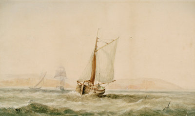 A lugger in a breeze by Arthur Wellington Fowles - print