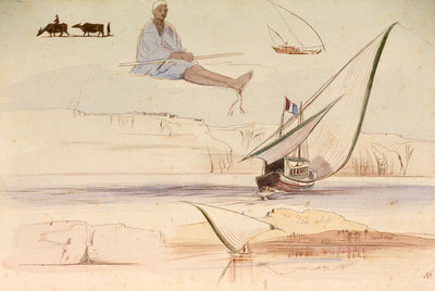 Studies on the Nile by Edward Lear - print