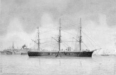 HMS 'Penelope' at Harwich by unknown - print
