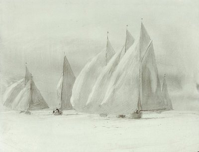 Big yachts by William Lionel Wyllie - print
