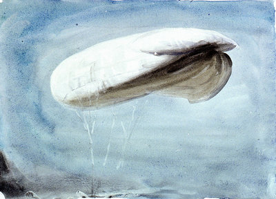 A barrage balloon S W 30 by William Lionel Wyllie - print