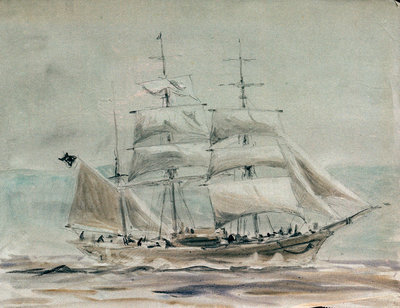 Barque under sail by William Lionel Wyllie - print
