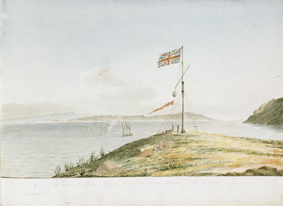 The Islands of Lessina & Brazza - from Hostes Island, Entrance of Port St George, Lissa by William Innes Pocock - print