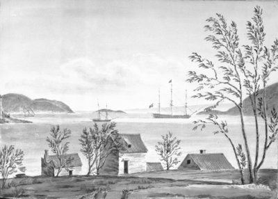 Port St George, Lissa, from the town by William Innes Pocock - print