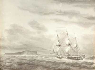 Cape Molo, Minorca and HMS 'Menelaus' by William Innes Pocock - print