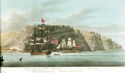 Second half of a panorama, the 'General View of St Helena' by William Innes Pocock - print