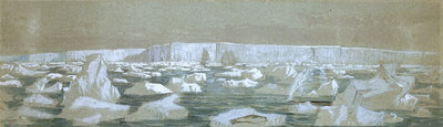 Part of the South Polar Barrier, 2 February 1841 by J.E. Davis - print