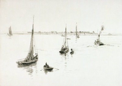 Bawleys, Tilbury by William Lionel Wyllie - print