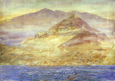 Athens from the Gulf of Aegina by William Lionel Wyllie - print