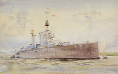 HMS 'Lion' by William Lionel Wyllie - print