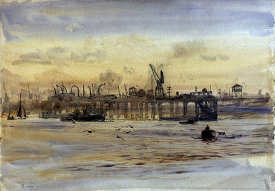 Becton Gasworks by William Lionel Wyllie - print
