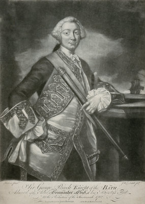 Sir George Pockock by Thomas Hudson - print