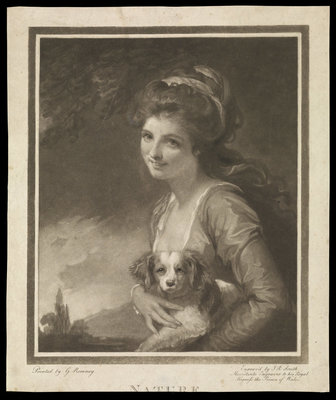 Emma Hamilton as Nature by George Romney - print