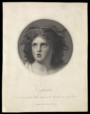 Emma Hamilton as Cassandra by George Romney - print