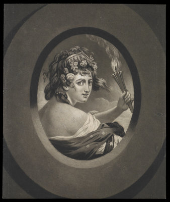 Emma Hamilton as Thais by Francis Wheatley - print