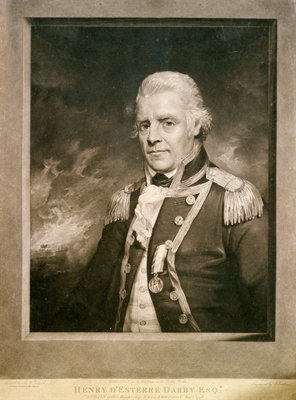 Henry D'Esterre Darby Esqr. Captain of His Majesty's Ship 'Bellerophon' Aug 1st 1798 by William Beechey - print