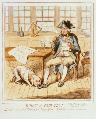 What a Cur 'tis! Done from an original drawing by a British Officer - & published as a Guide to Preferment by H. Humphrey - print
