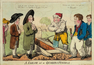 A sailor at a Quakers funeral by George M. Woodward - print