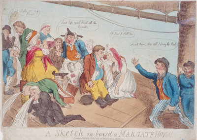 A sketch on board a Margate Hoy by P. Roberts - print