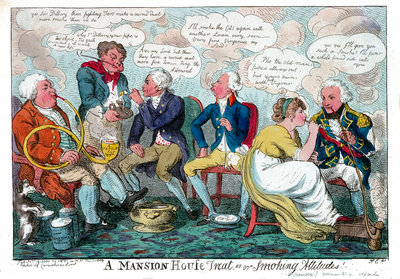 A Mansion House treat or smoking attitudes by S.W. Fores - print