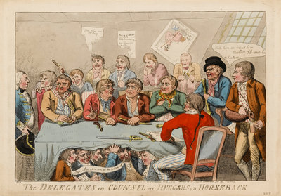 The Delegates in Counsel or Beggars on Horseback by S.W. Fores - print