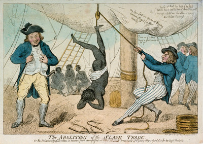 The abolition of the slave trade by Isaac Cruikshank - print