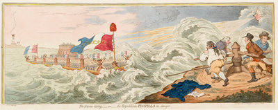 The Storm rising; - or - the Republican Flotilla in danger by James Gillray - print