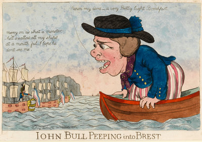 John Bull Peeping into Brest by George Woodward - print