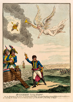 Buonaparte leaving Egypt by James Gillray - print