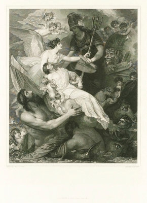 Apotheosis of Nelson by Benjamin West - print