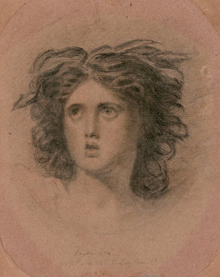 Emma Hart as Cassandra by George Romney - print