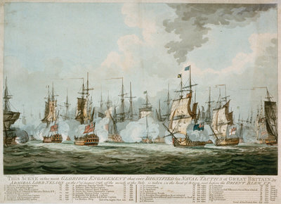 The Battle of the Nile, 1 August 1798 by S.W. Fores - print
