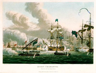 'Queen Charlotte' moored off the Mole End by William Innes Pocock - print